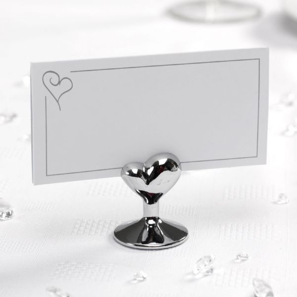 Contemporary Heart Place Card Holders (12)